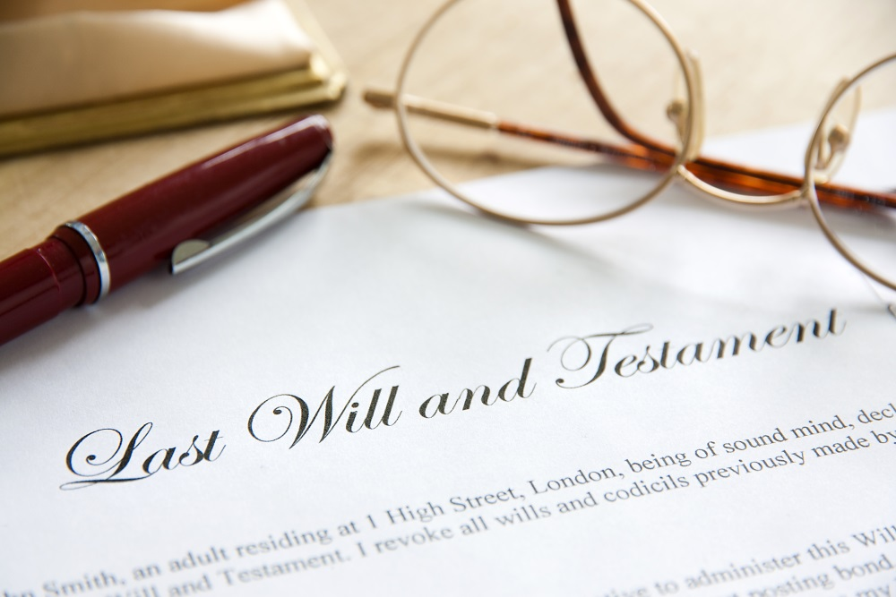 virginia probate - last will and testament document